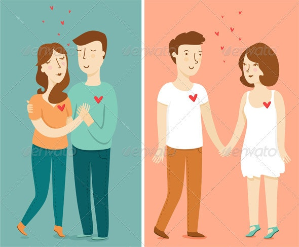 Love Couples - People Characters