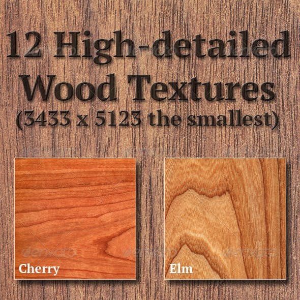 High-Detailed Wood Textures Set 1
