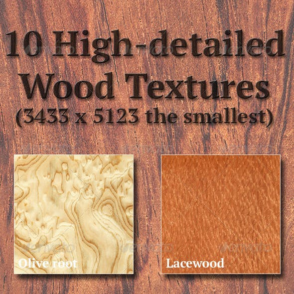 High-Detailed Wood Textures Set 2