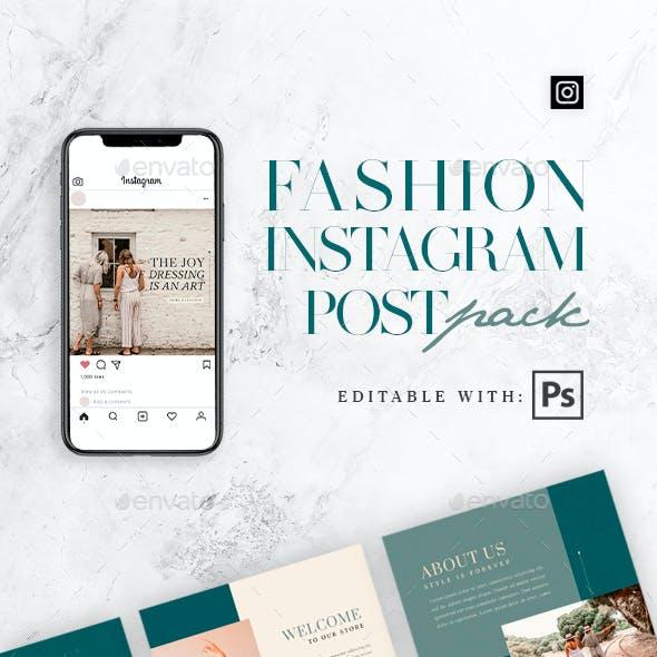 Fashion - 15 Instagram Post Pack