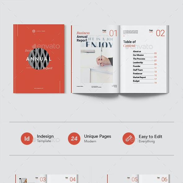Bold Annual Report Document Template
