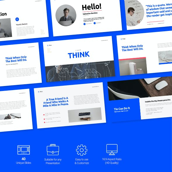 Think - Educational Presentation Google Slides Template