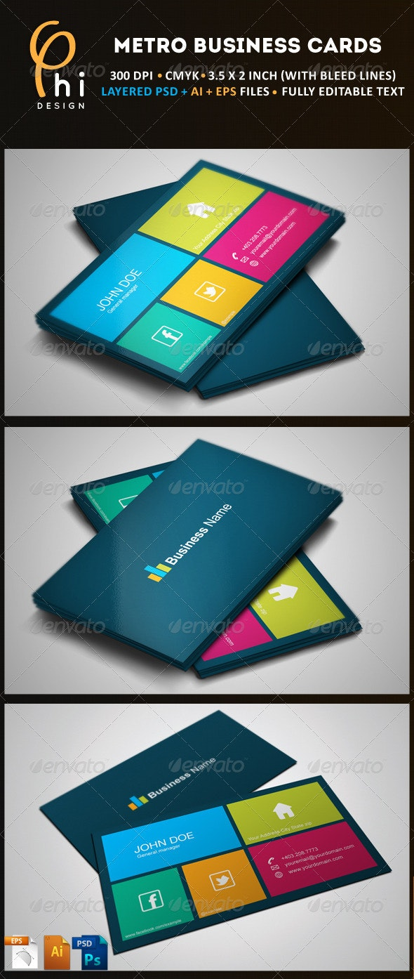 Square Business Card - Business Cards Print Templates