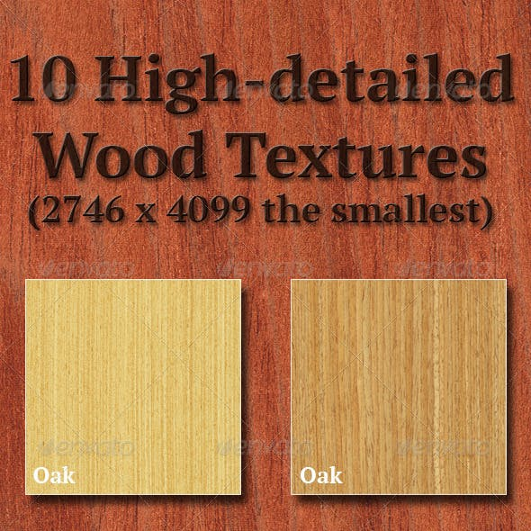 High-Detailed Wood Textures Set 3