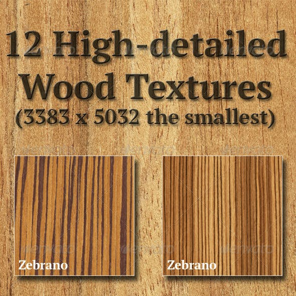 High-Detailed Wood Textures Set 4