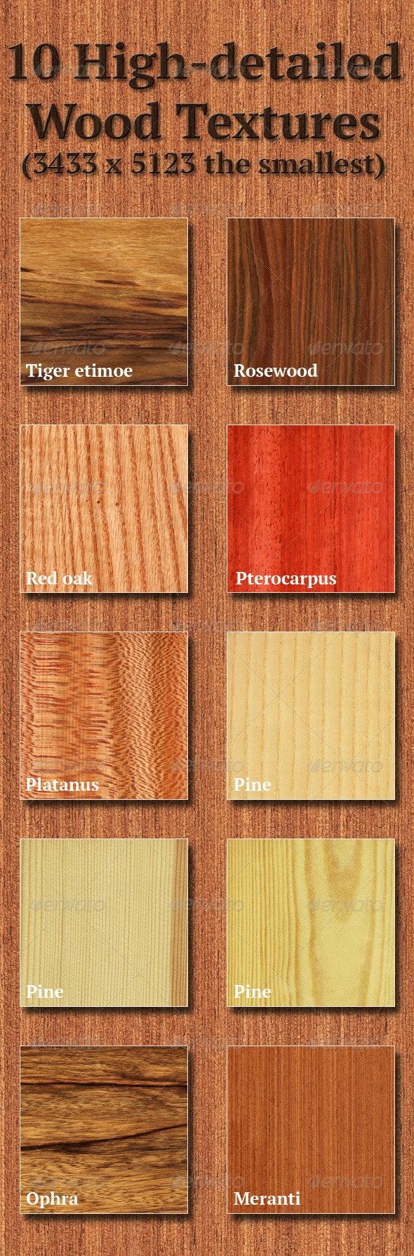 High-Detailed Wood Textures Set 5 - Wood Textures
