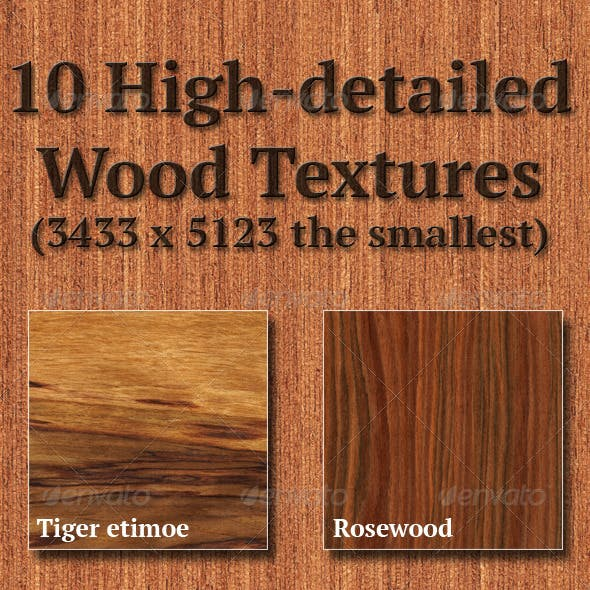 High-Detailed Wood Textures Set 5