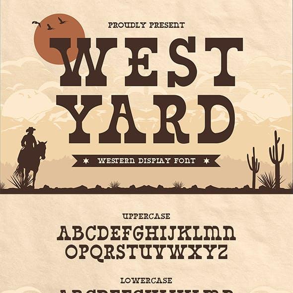 West Yard – Western Display Font