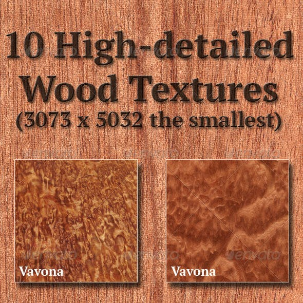 High-Detailed Wood Textures Set 6