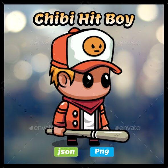 Chibi Boy with Baseball Bat Game Asset