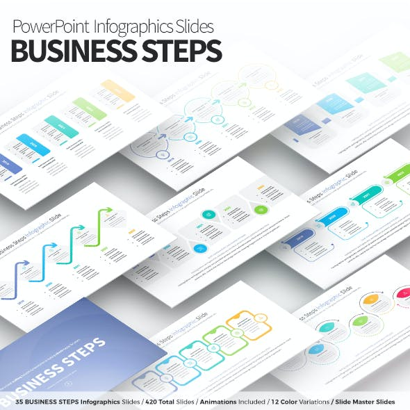 Business Steps - PowerPoint Infographics Slides