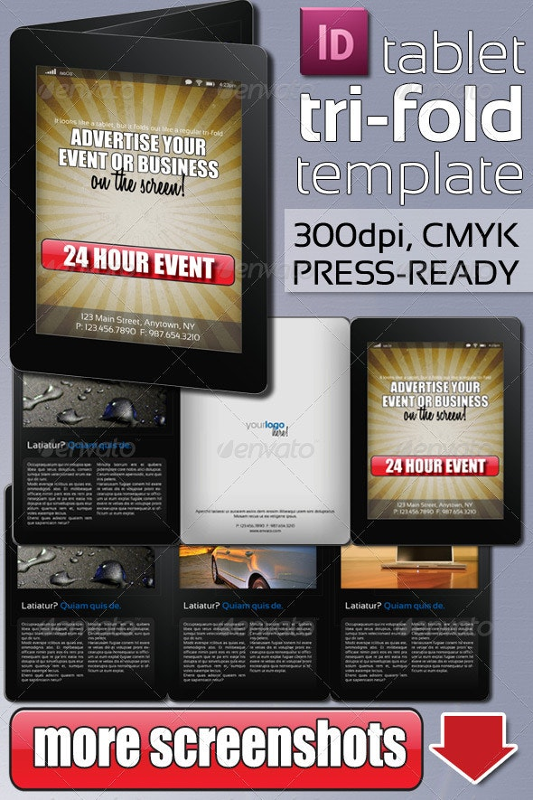 Tablet Tri-Fold Template - Corporate Brochures
