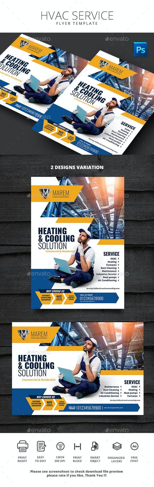 HVAC Service Flyer Template - Commerce Flyers