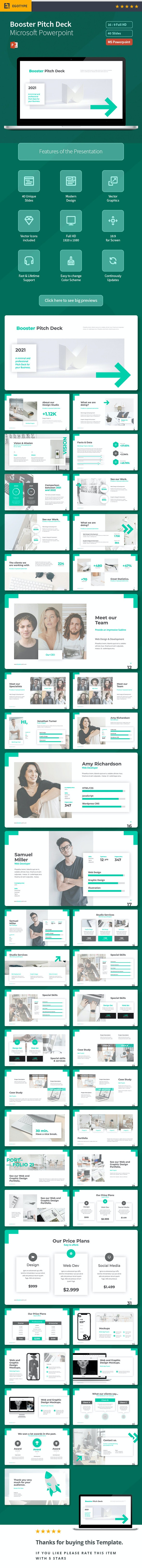 Pitch Deck - Booster - Business PowerPoint Templates
