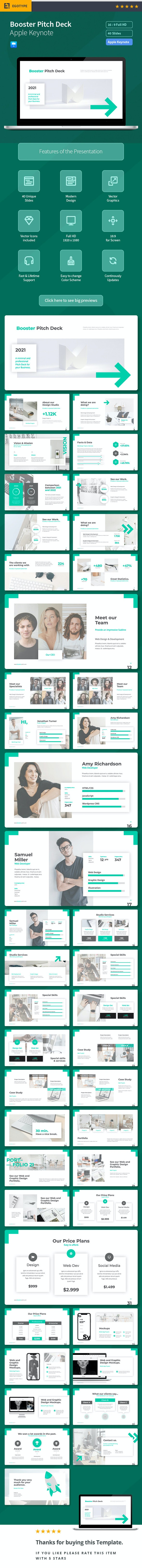 Pitch Deck - Booster - Business Keynote Templates