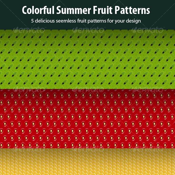 5 in 1 Seamless Fruit Patterns