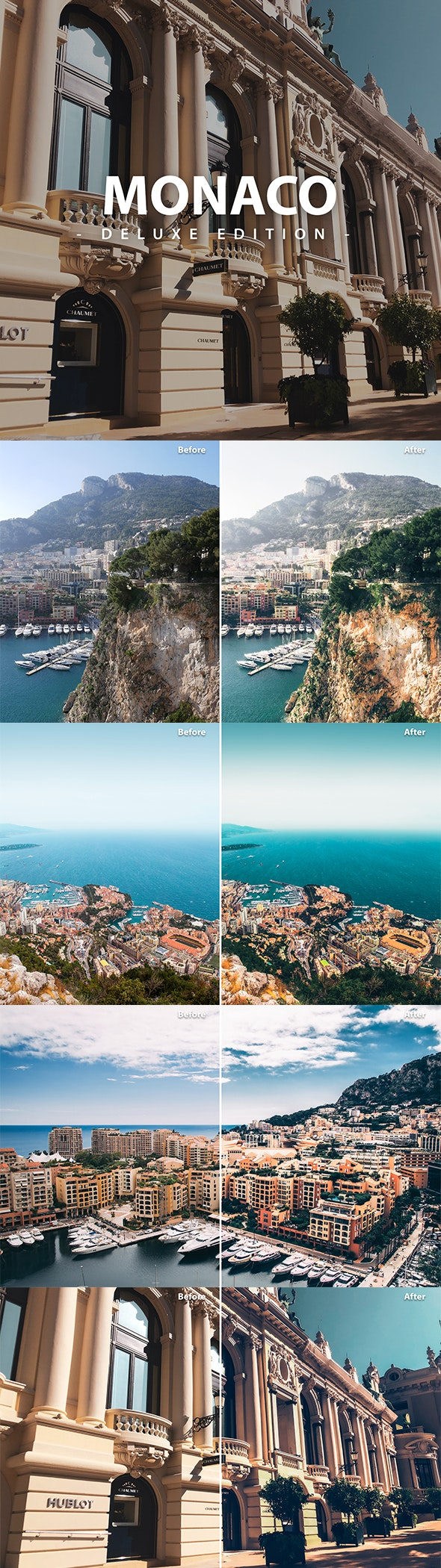 Monaco Pack | Deluxe Edition for Mobile and Pc - Lightroom Presets Add-ons