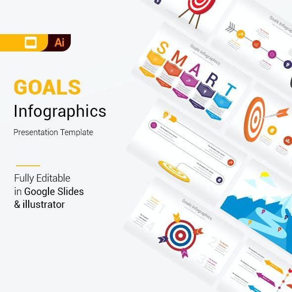 Goals Infographics Google Slides & Illustrator Presentation