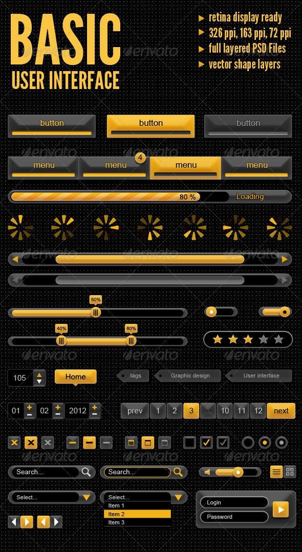 Basic User Interface - User Interfaces Web Elements