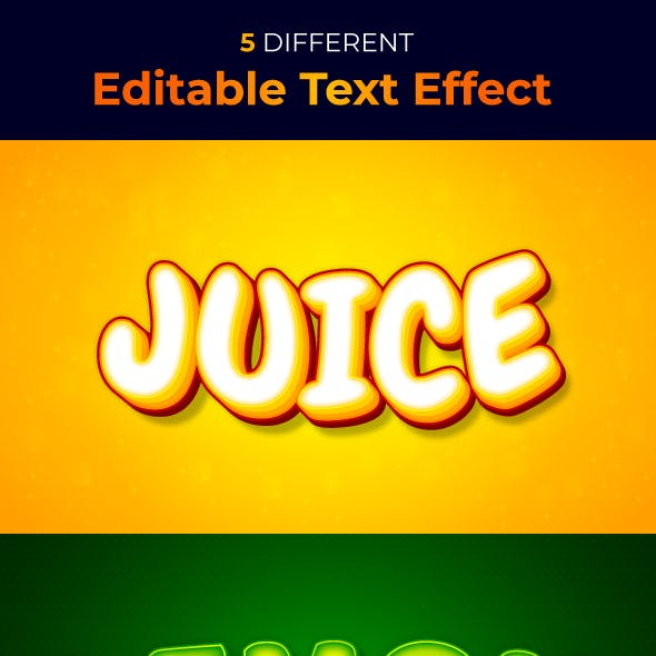 Fruits Text Style Effect