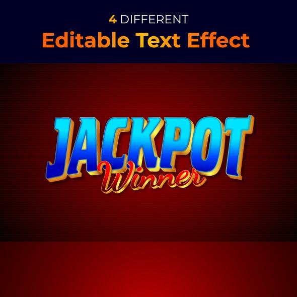 Jackpot Winner 3d Text Style Effect