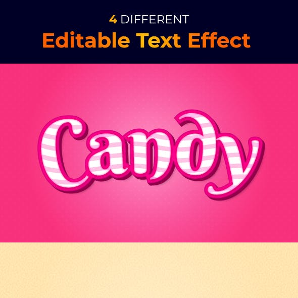Candy Text Style Effect Template