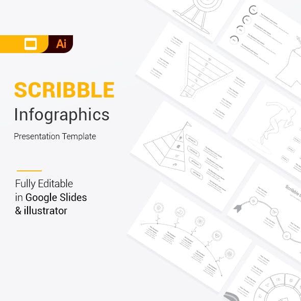Scribble Infographics Google Slides & Illustrator Presentation