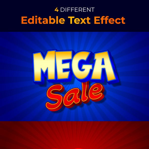 Promotions 3D Text Style Effect