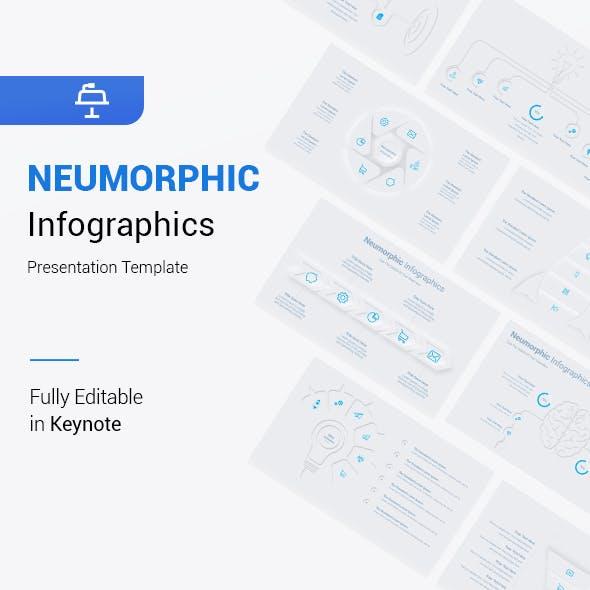 Neumorphic Infographics Keynote Template
