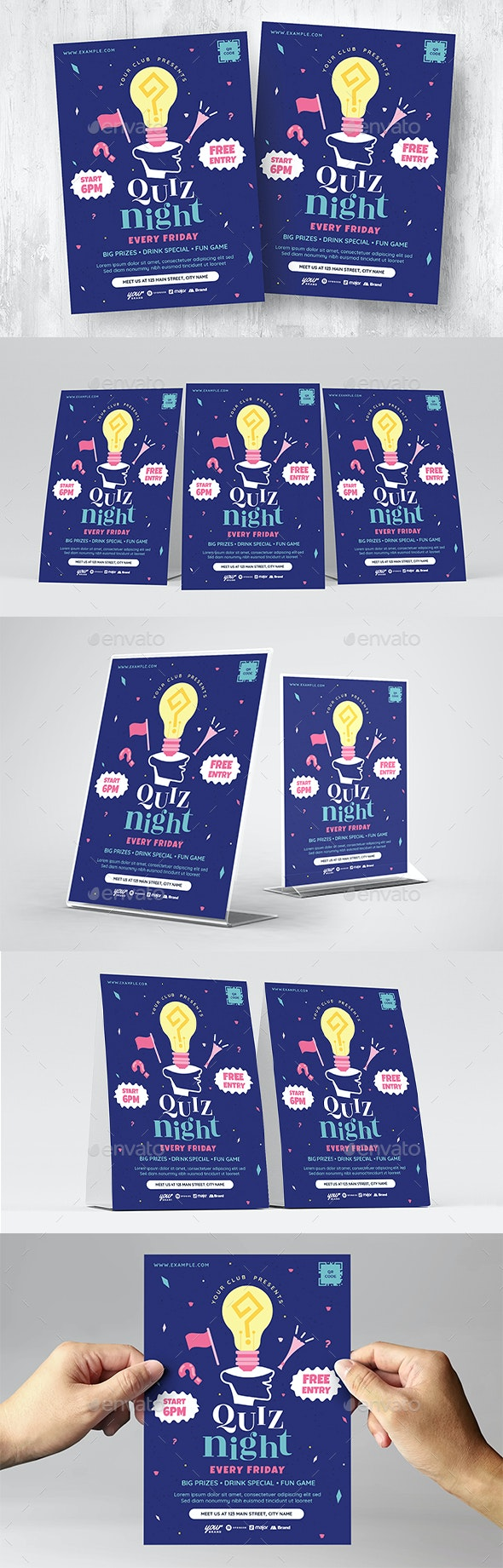 Quiz Night Flyer Template - Miscellaneous Events