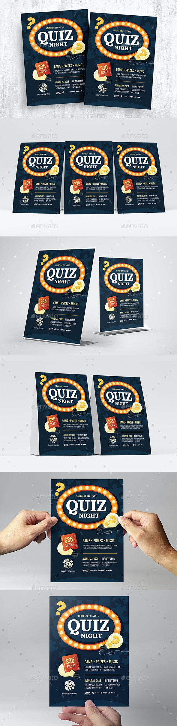 Pub Quiz Flyer Template - Miscellaneous Events