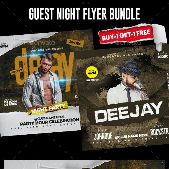 Night Club Flyer Bundle