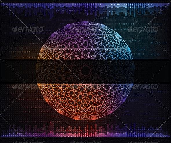 Modern technology theme background - Backgrounds Decorative