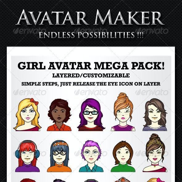 Avatar maker - Girl avatar creator
