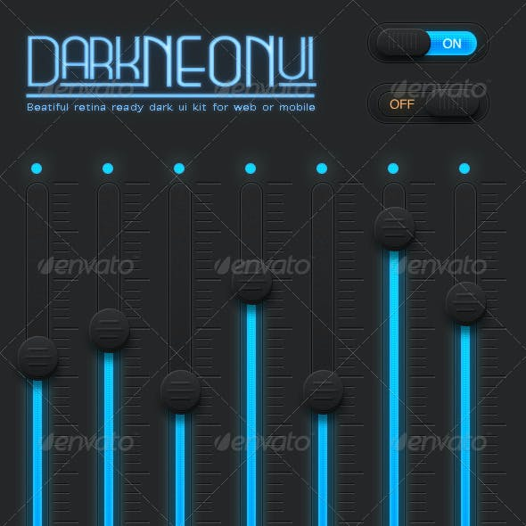 Dark Neon UI