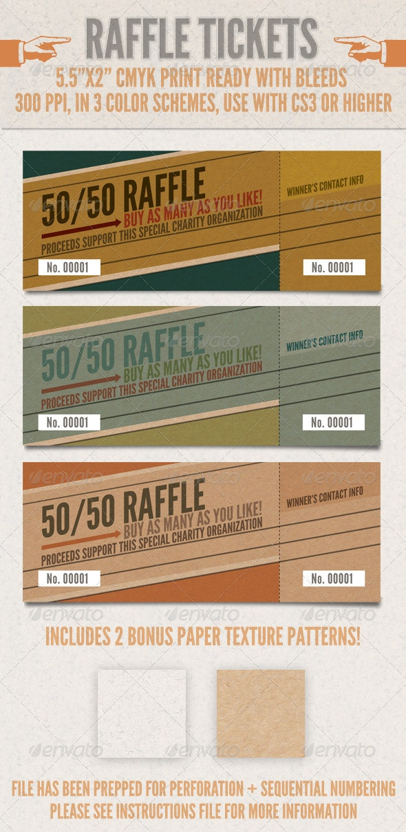 Raffle Tickets - Miscellaneous Print Templates