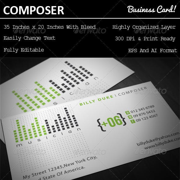 Composer Business Card