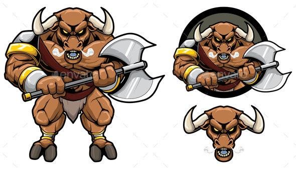 Minotaur Mythology Mascot - Animals Characters