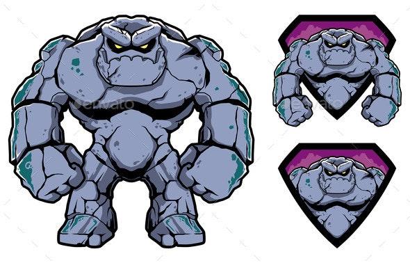 Stone Giant Mascot - People Characters