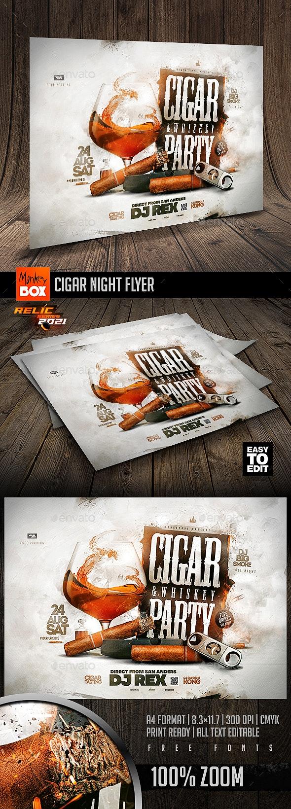 Cigar Night Flyer - Events Flyers