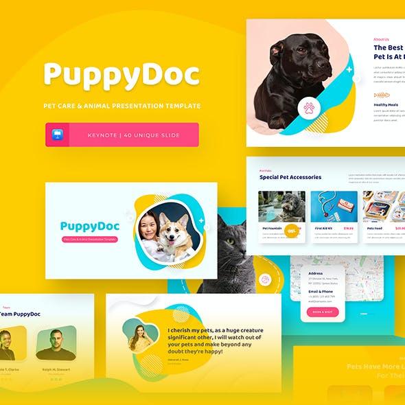 PuppyDoc - Pets Care & Animal Keynote Presentation Template