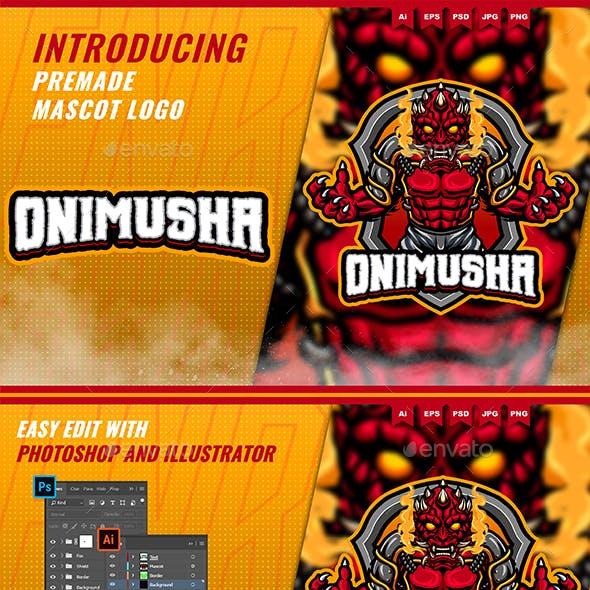 Onimusha Devil - Mascot Esport Logo Template