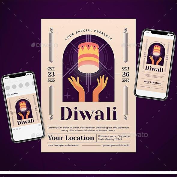 Diwali Flyer Set