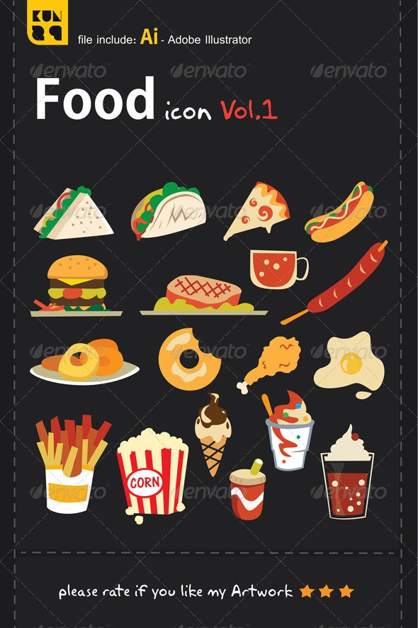 Food Icons Vol.1 - Food Objects