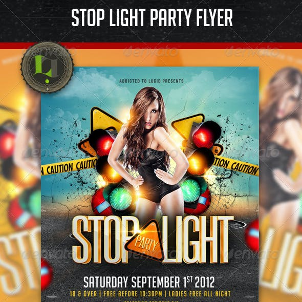 Stop Light Party Flyer