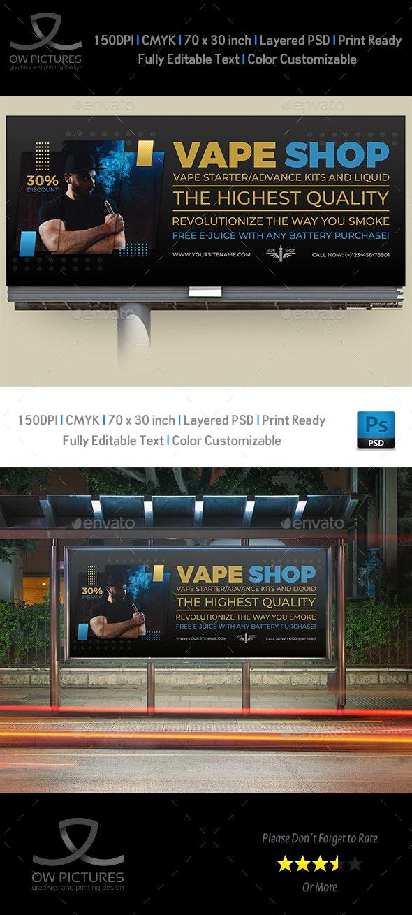 Vape Shop Billboard Template - Signage Print Templates