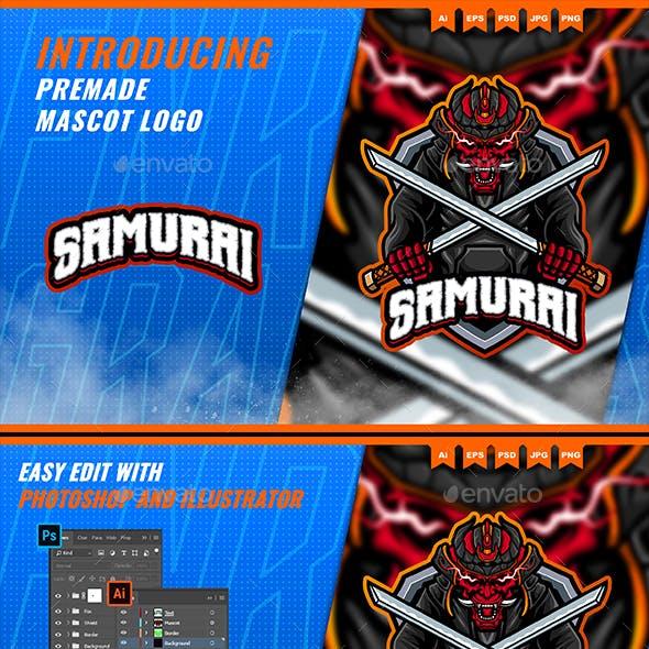 Samurai Oni - Mascot Esport Logo Template