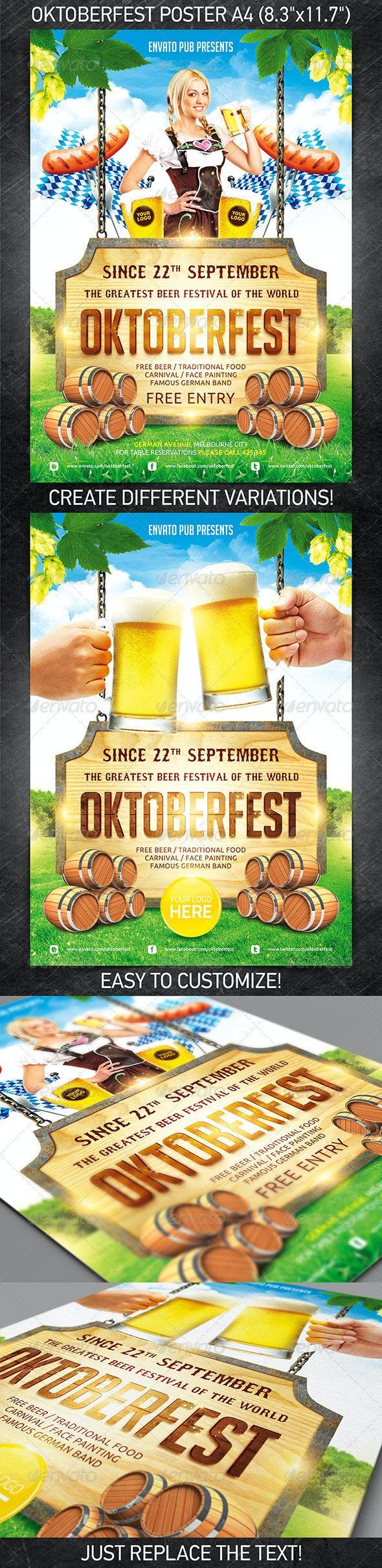 Oktoberfest festival poster - Holidays Events