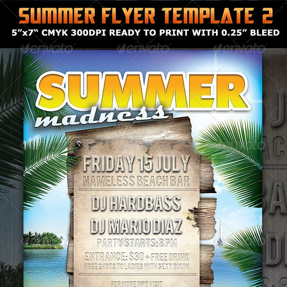 Summer Madness Party Flyer Template