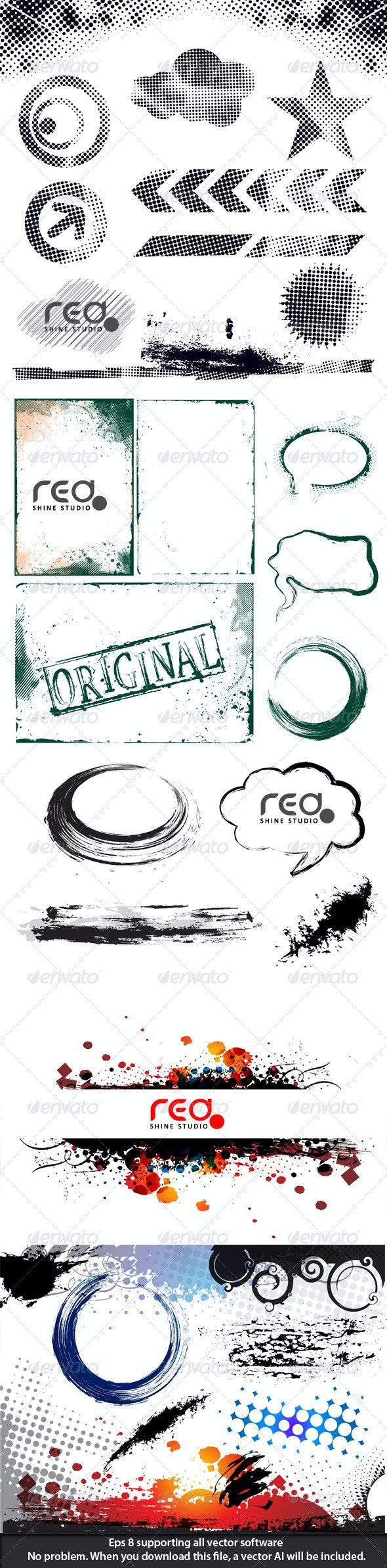 Grunge collection - Decorative Symbols Decorative